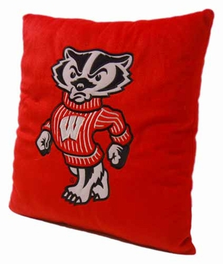 Wisconsin 15 Inch Applique Pillow