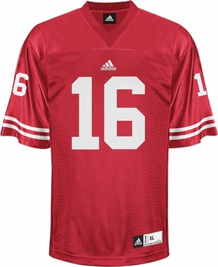 Wisconsin #16 Adidas Replica Football Jersey