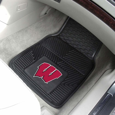 Wisconsin 2 Piece Heavy Duty Vinyl Car Mats