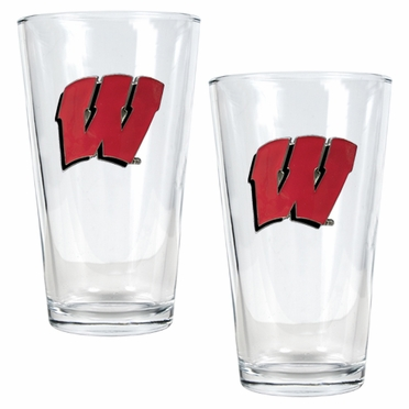 Wisconsin 2 Piece Pint Glass Set