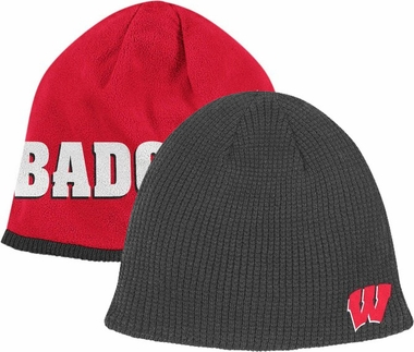 Wisconsin 2011 Cuffless Reversible Logo Knit Hat