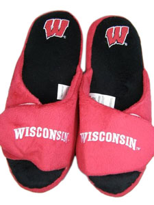 Wisconsin 2011 Open Toe Hard Sole Slippers - Large