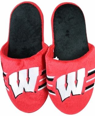 Wisconsin 2011 Team Stripe Slide Slippers