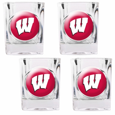 Wisconsin 4 Piece Shot Glass Set