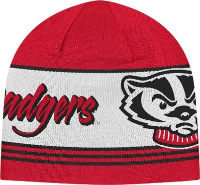 Wisconsin Adidas Originals Knit Skully Hat