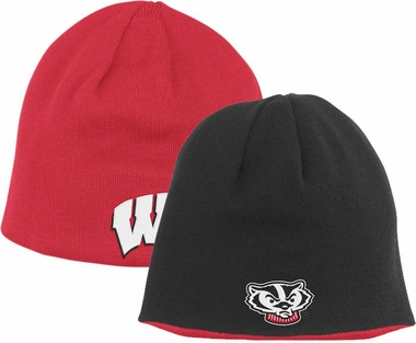 Wisconsin Adidas Reversible Knit Hat