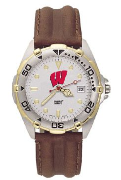 Wisconsin All Star Mens (Leather Band) Watch