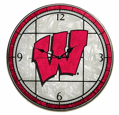 Wisconsin Art Glass Clock