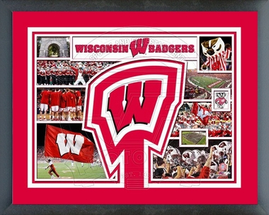 Wisconsin Badgers Framed Milestones & Memories