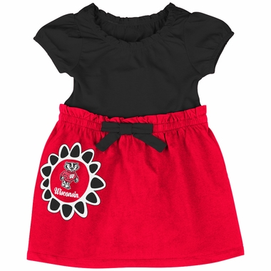 Wisconsin Badgers NCAA Infant Girls Daisy Dress