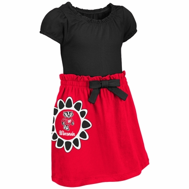 Wisconsin Badgers NCAA Toddler Girls Daisy Dress