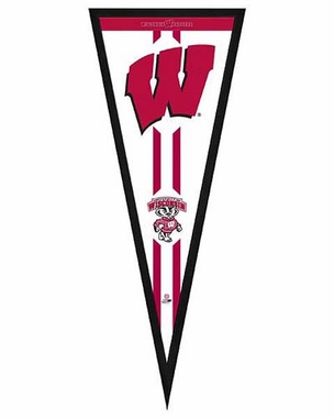 "Wisconsin Badgers Pennant Frame - 13""x33"" (No Glass)"