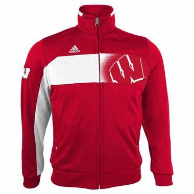 Wisconsin Badgers YOUTH Adidas 2013 Sideline Full Zip Warm Up Jacket