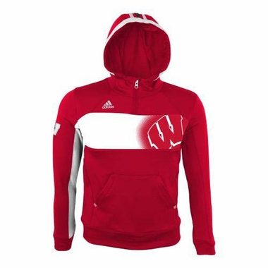 Wisconsin Badgers YOUTH Adidas 2013 Sideline Hooded Sweatshirt