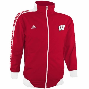 Wisconsin Badgers YOUTH Adidas Sideline Swagger Full Zip Warm Up Jacket