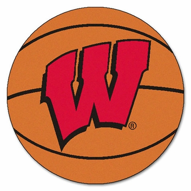 Wisconsin Basketball Shaped Rug