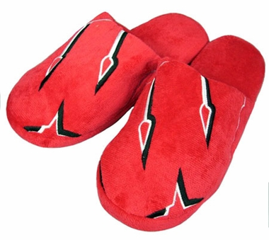 Wisconsin Big Logo Hard Sole Slippers