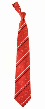 Wisconsin Cambridge Woven Silk Necktie