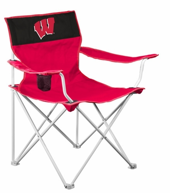 Wisconsin Canvas Adult Folding Logo Chair