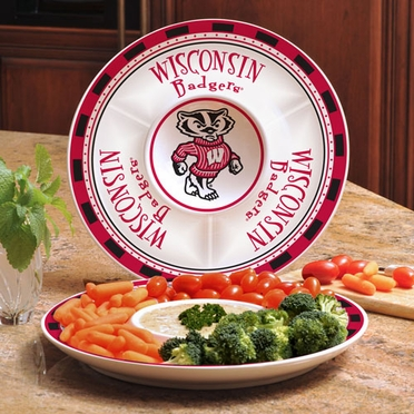 Wisconsin Ceramic Chip and Dip Plate