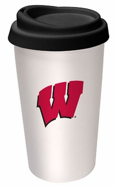 Wisconsin Ceramic Travel Cup