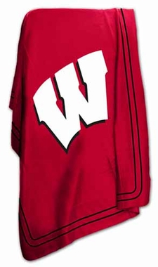 Wisconsin Classic Fleece Throw Blanket