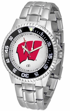 Wisconsin Competitor Men's Steel Band Watch