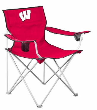 Wisconsin Deluxe Adult Folding Logo Chair