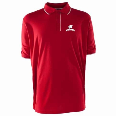 Wisconsin Mens Elite Polo Shirt (Team Color: Red)