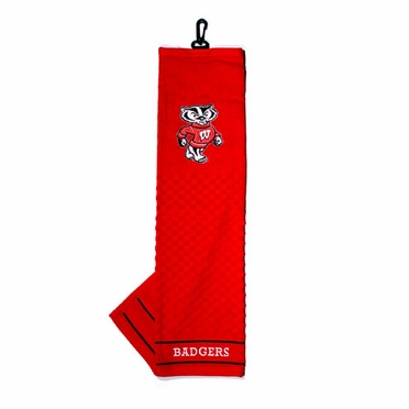 Wisconsin Embroidered Golf Towel