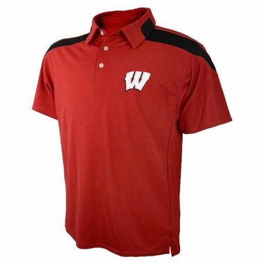 Wisconsin Embroidered Logo Polyester Polo Shirt