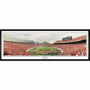 Wisconsin End Zone Framed Panoramic Print