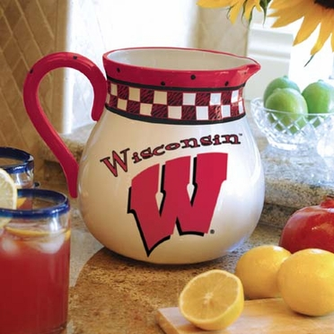 Wisconsin Gameday Ceramic Pitcher