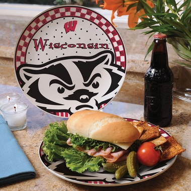 Wisconsin Gameday Ceramic Plate