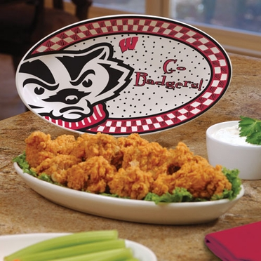 Wisconsin Gameday Ceramic Platter