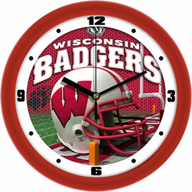 Wisconsin Helmet Wall Clock