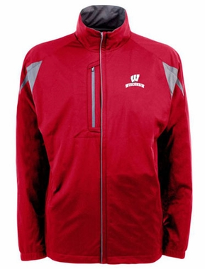 Wisconsin Mens Highland Water Resistant Jacket (Team Color: Red)
