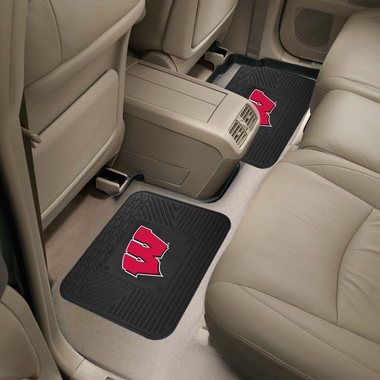 Wisconsin SET OF 2 Heavy Duty Vinyl Rear Car Mats