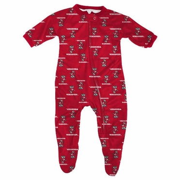 Wisconsin Infant Footed Zip Raglan Coverall Sleeper