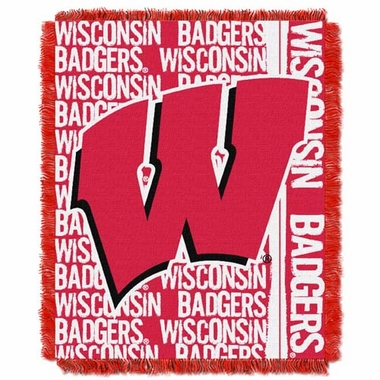 Wisconsin Jacquard Woven Throw Blanket