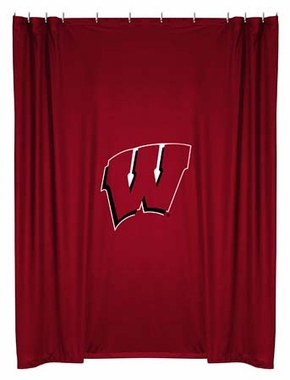 Wisconsin Jersey Material Shower Curtain