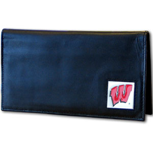 Wisconsin Leather Checkbook Cover (F)