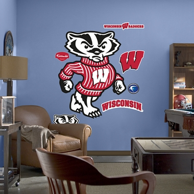 Wisconsin Mascot Fathead Wall Graphic