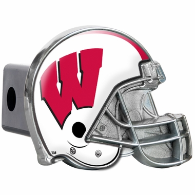 Wisconsin Metal Helmet Trailer Hitch Cover