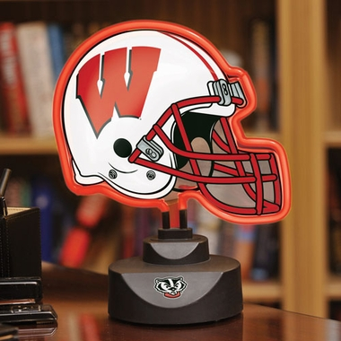 Wisconsin Neon Display Helmet