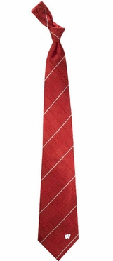Wisconsin Oxford Stripe Woven Silk Necktie
