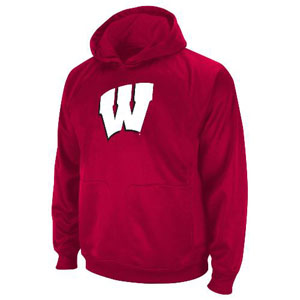Wisconsin Performance Pullover Hooded Sweatshirt - Large