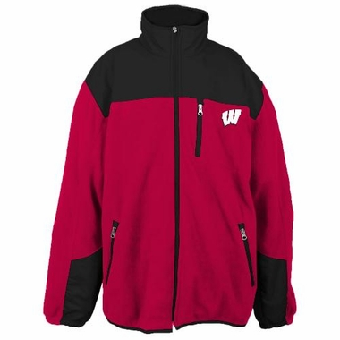 Wisconsin Poly Dobby Full Zip Polar Fleece Jacket