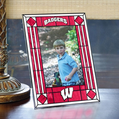 Wisconsin Portrait Art Glass Picture Frame