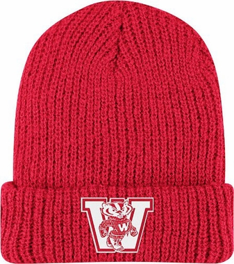 Wisconsin Retro Yarn Cuffed Knit Hat
